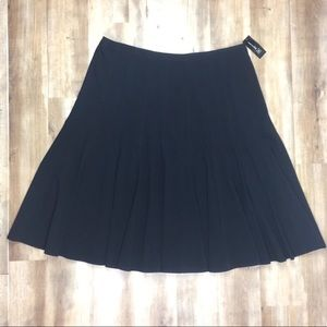 INC New Black Pleated Skirt 22W